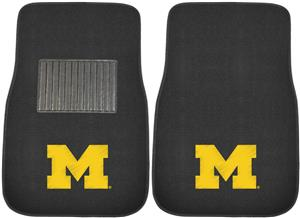 Fan Mats Univ Michigan Embroidered Car Mats (set)