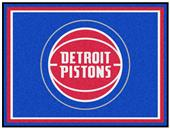 Fan Mats NBA Detroit Pistons 8x10 Rug