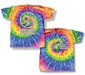 Tandem Sport Volleyball Peace Love Tie Dye T-Shirt