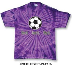 Tandem Sport Soccer Live It Tie Dye TShirts