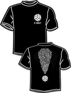 Tandem Sport Volleyball Exclamation T-Shirt