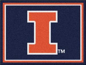 Fan Mats NCAA University of Illinois 8x10 Rug