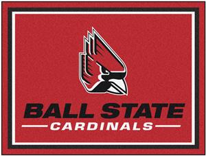 Fan Mats NCAA Ball State University 8x10 Rug
