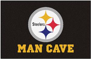 Fan Mats Pittsburgh Steelers Man Cave Starter Mat