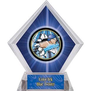 Hasty Awards Blue Diamond Swimming Ice Trophy