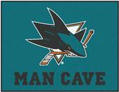 Fan Mats NHL San Jose Man Cave All-Star Mat