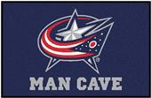 Fan Mats NHL Blue Jackets Man Cave Starter Mat