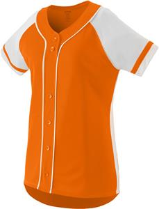 Augusta Faux Full Button Winner Softball Jersey