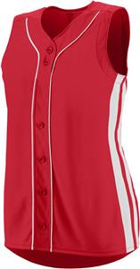 Augusta Sleeveless Winner Faux Softball Jersey