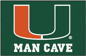 Fan Mats University of Miami Man Cave Starter Mat