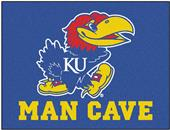Fan Mats Univ. of Kansas Man Cave All-Star Mat