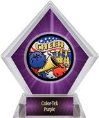 Awards Americana Cheer Purple Diamond Ice Trophy