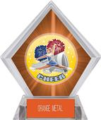 Hasty Awards HD Cheer Orange Diamond Ice Trophy