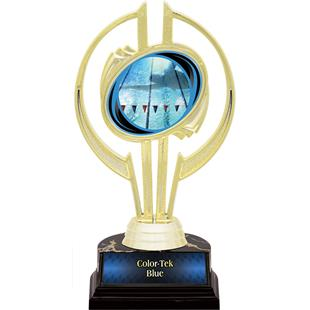 "Gold Hurricane 7"" Action Swimming Trophy"