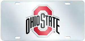 Fan Mats Ohio State Univ. License Plate-Inlaid