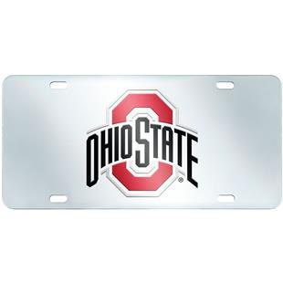 Fan Mats Ohio State Univ. License Plate-Inlaid