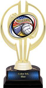 "Gold Hurricane 7"" Americana Volleyball Trophy"