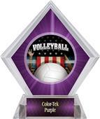 Award Patriot Volleyball Purple Diamond Ice Trophy