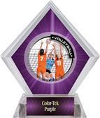 Awards PR2 Volleyball Purple Diamond Ice Trophy