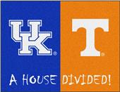 Fan Mats NCAA Kentucky/Tennessee House Divided Mat