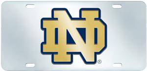 Fan Mats Notre Dame License Plate-Inlaid