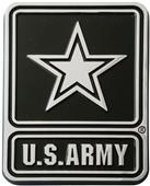 Fan Mats US Army Car Chrome Metal Emblem