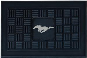 Fan Mats Ford Mustang Horse Medallion Door Mat