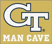 Fan Mats Georgia Tech Man Cave Tailgater Mat