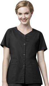WonderWink Womens Short Sleeve Snap Jacket Scrub