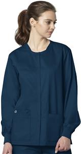 WonderWink Long Sleeve Snap Front Jacket Scrub