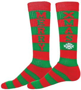 Red Lion Merry XMas Over-The-Calf Knee High Socks