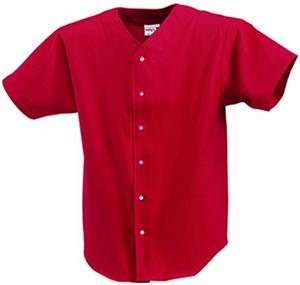 Badger Solid Button Front Baseball Jersey-Closeout
