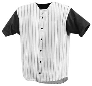 Badger Full Button Pinstripe Baseball Jerseys