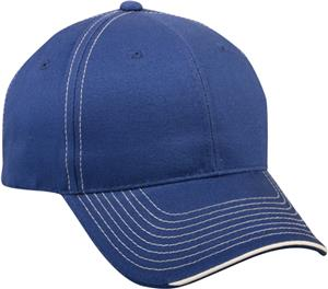 OC Sports Twill Visor Piping Accent Ball Cap