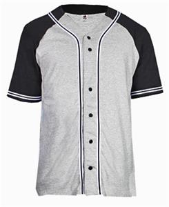Badger Colorblock Braided Baseball Jersey-Closeout