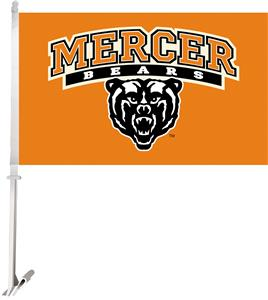 "Collegiate Mercer 2-Sided 11""x18"" Car Flag"
