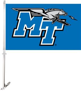 Collegiate Middle Tennessee 2-Sided 11x18 Car Flag