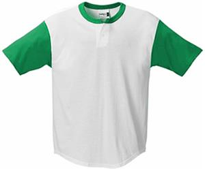 Badger Colorblock Henley Baseball Jerseys-Closeout