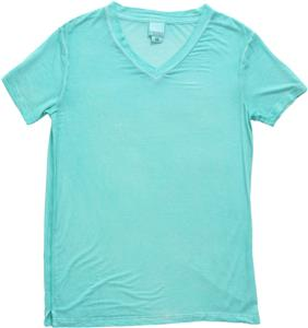 J America Ladies Oasis Wash V-Neck Tee