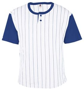 Badger Youth Pinstripe Placket Baseball Jerseys