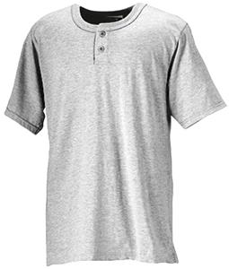 Badger Solid 2-Button Henley Baseball Jerseys