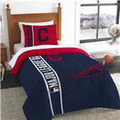 MLB Indians Printed Twin Comforter & Sham Set