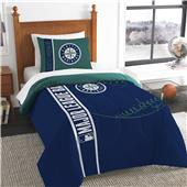 MLB Mariners Printed Twin Comforter & Sham Set