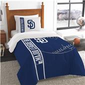 MLB Padres Printed Twin Comforter & Sham Set
