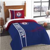 MLB Rangers Printed Twin Comforter & Sham Set