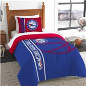 NBA 76ers Printed Twin Comforter & Sham Set
