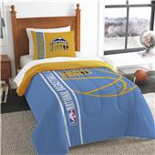 NBA Nuggets Printed Twin Comforter & Sham Set