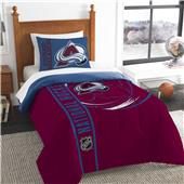 NHL Avalanche Printed Twin Comforter & Sham Set