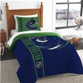 NHL Canucks Printed Twin Comforter & Sham Set