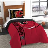 NHL Flames Printed Twin Comforter & Sham Set